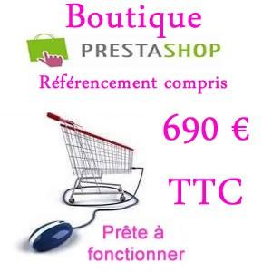Votre boutique Prestashop à 1090 € ht avec Vas-y ! formule tout compris boutique pro Prestashop