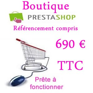 Boutique Prestashop Vaucluse 1090 € ht avec Vas-y ! création de votre site Prestashop tout compris Vaucluse